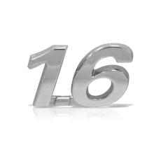 EMBLEMA 1.6 FIAT 04/ CROMADO - 1195