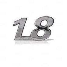 EMBLEMA 1.8 FIAT 04/10 CROMADO - 1197