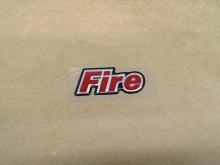 EMBLEMA FIRE FIAT RESINADO/VERMELHO - 1219