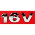 EMBLEMA 16V VW G3 00/08 CROMADO RETO LATERAL - 1346