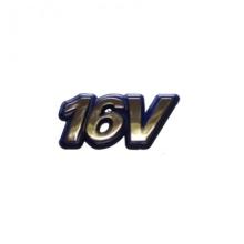 EMBLEMA 16V FIAT 96/00 DOURADO/FUNDO AZUL - 1458