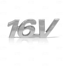 EMBLEMA 16V FIAT 00/04 CROMADO - 1485