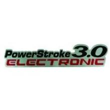 EMBLEMA 3.0 POWERSTROKE 2008/ PRETO - 7755