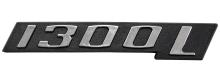EMBLEMA 1300L CROM/PRETO FUSCA - 821
